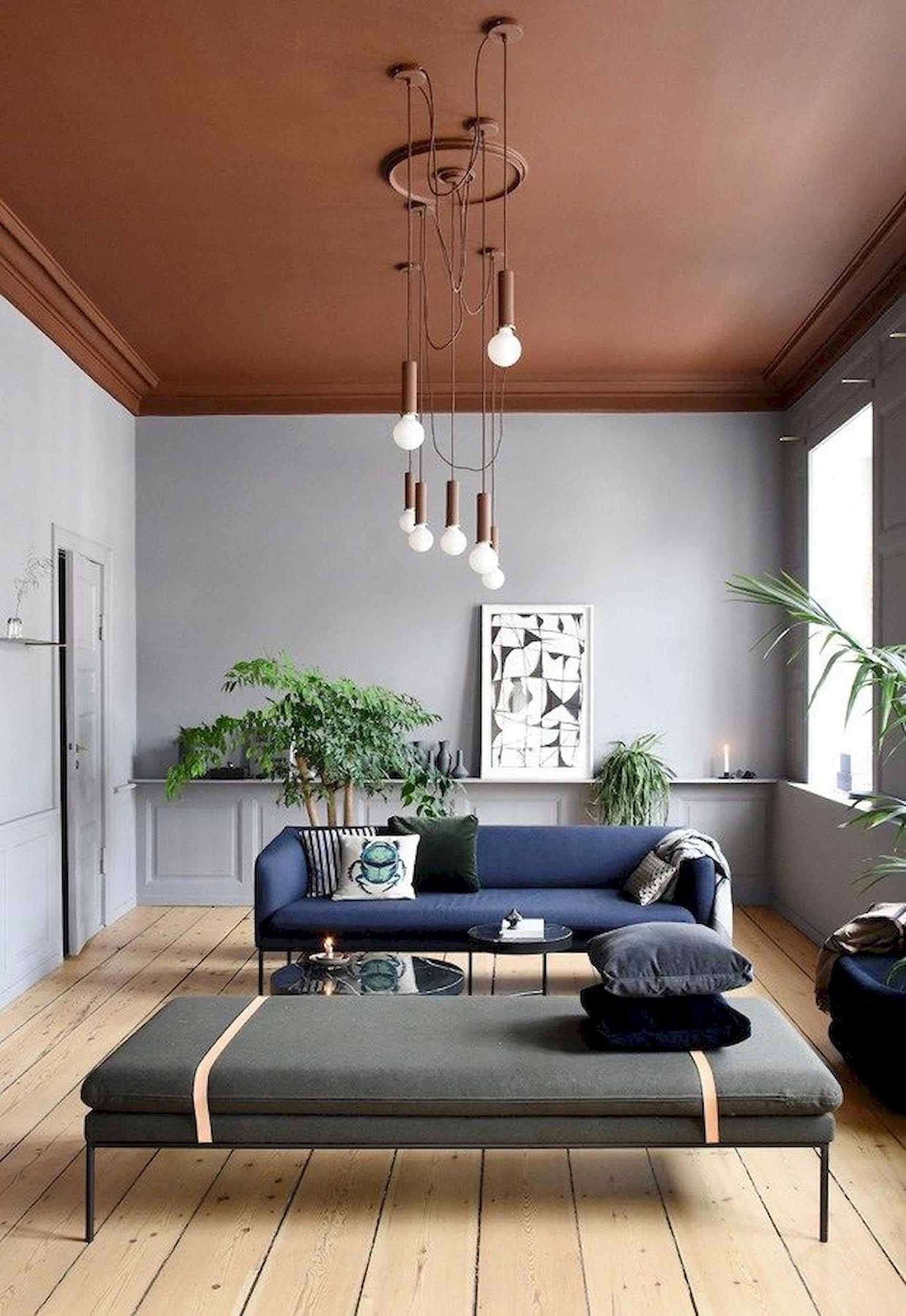 soffitto colorato ispirazioni soffitto terracotta