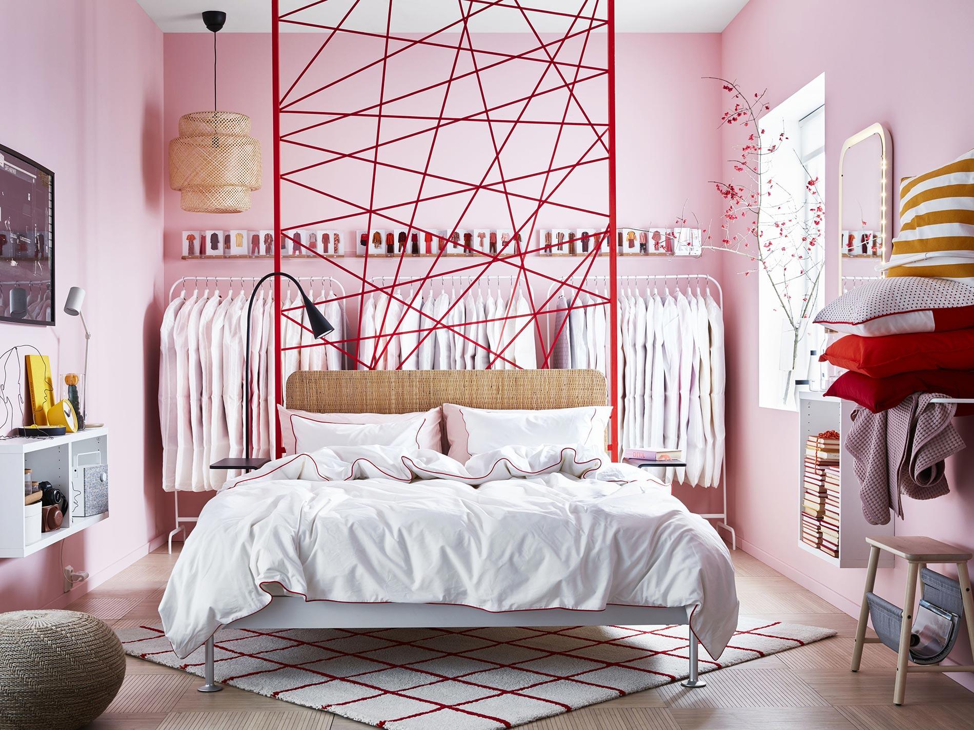 ispirazioni per la parete dietro il letto