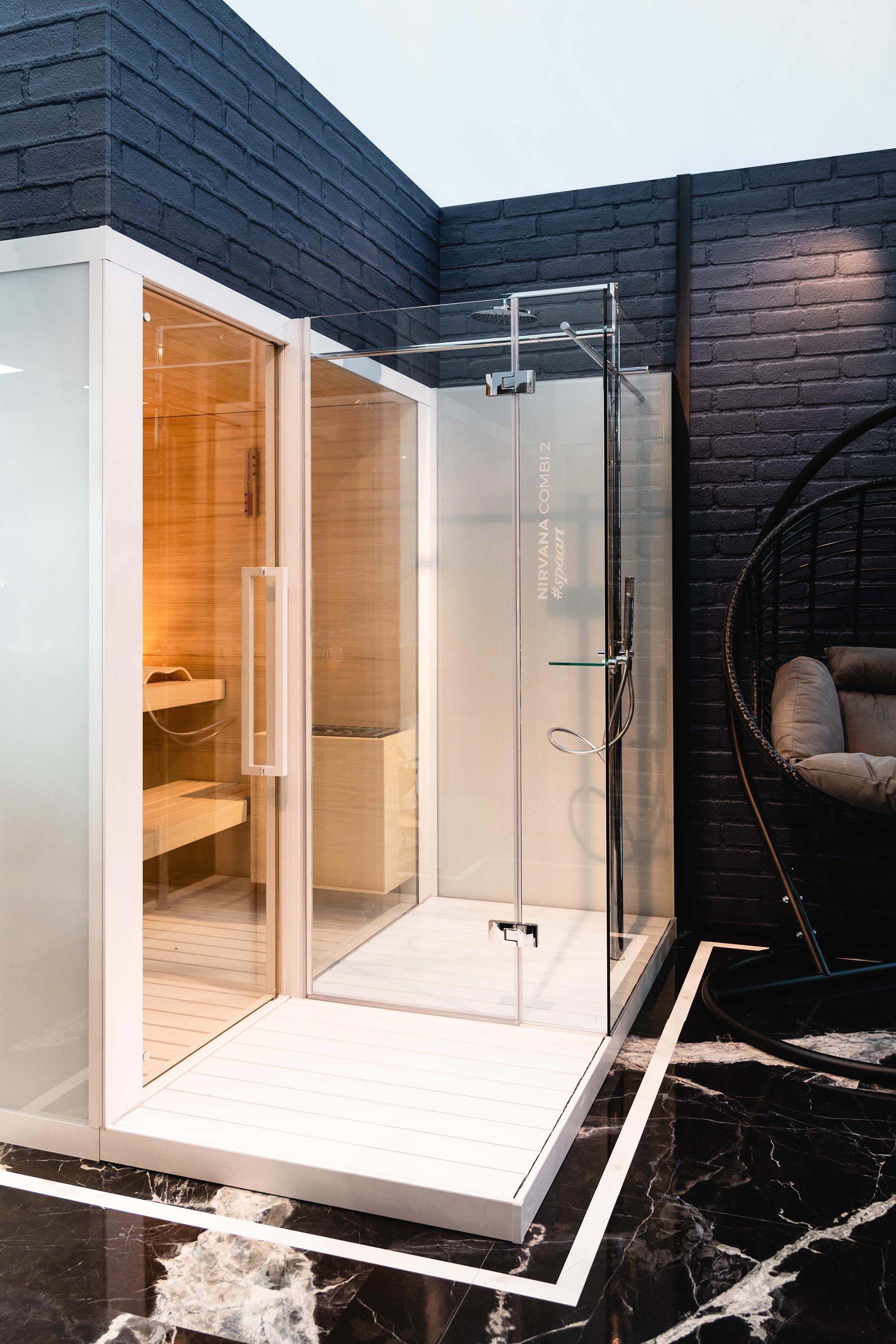sauna e hammam per la casa in piccoli spazi