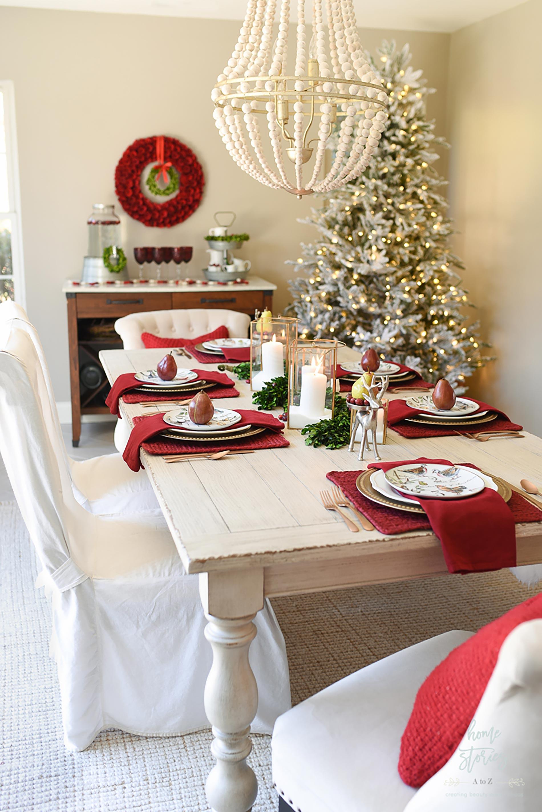 decorazioni natalizie americane sala da pranzo