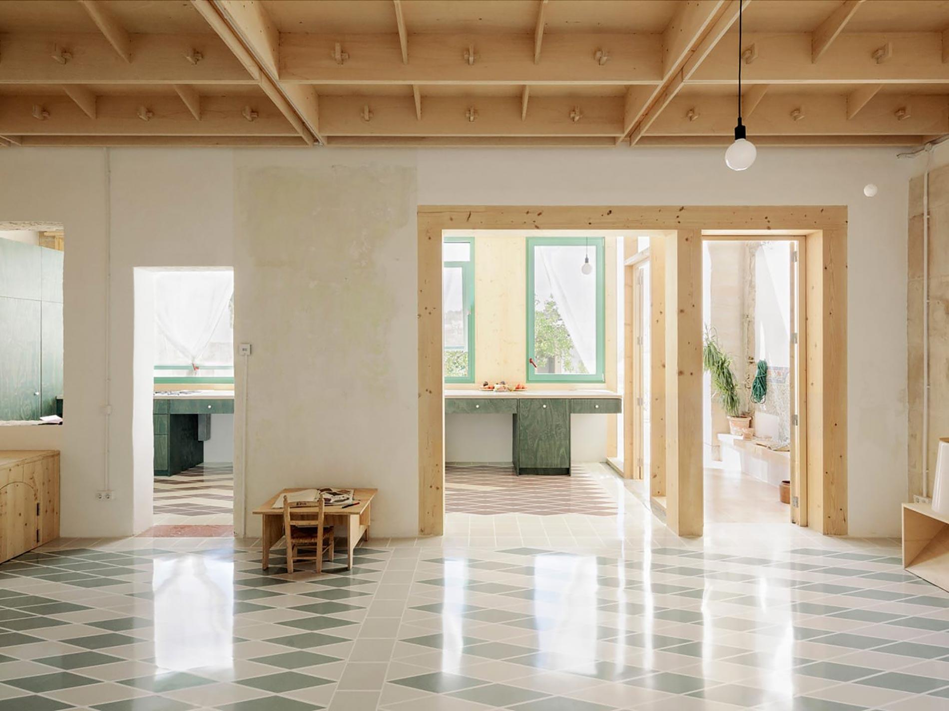Plywood casa di legno atrio cover