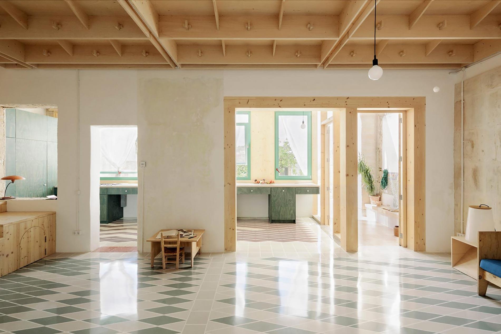 Plywood casa di legno atrio