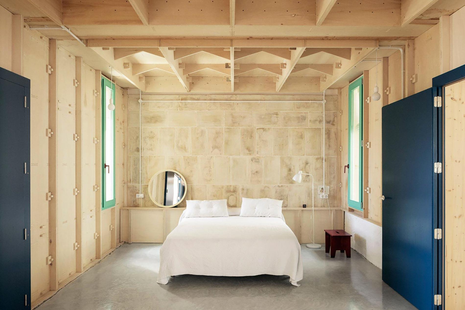 Plywood casa di legno camera da letto