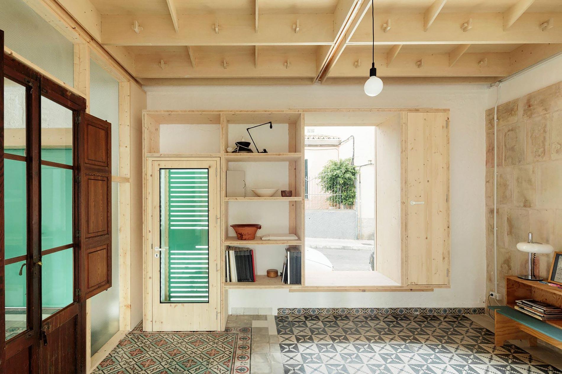 Plywood casa di legno disimpegno