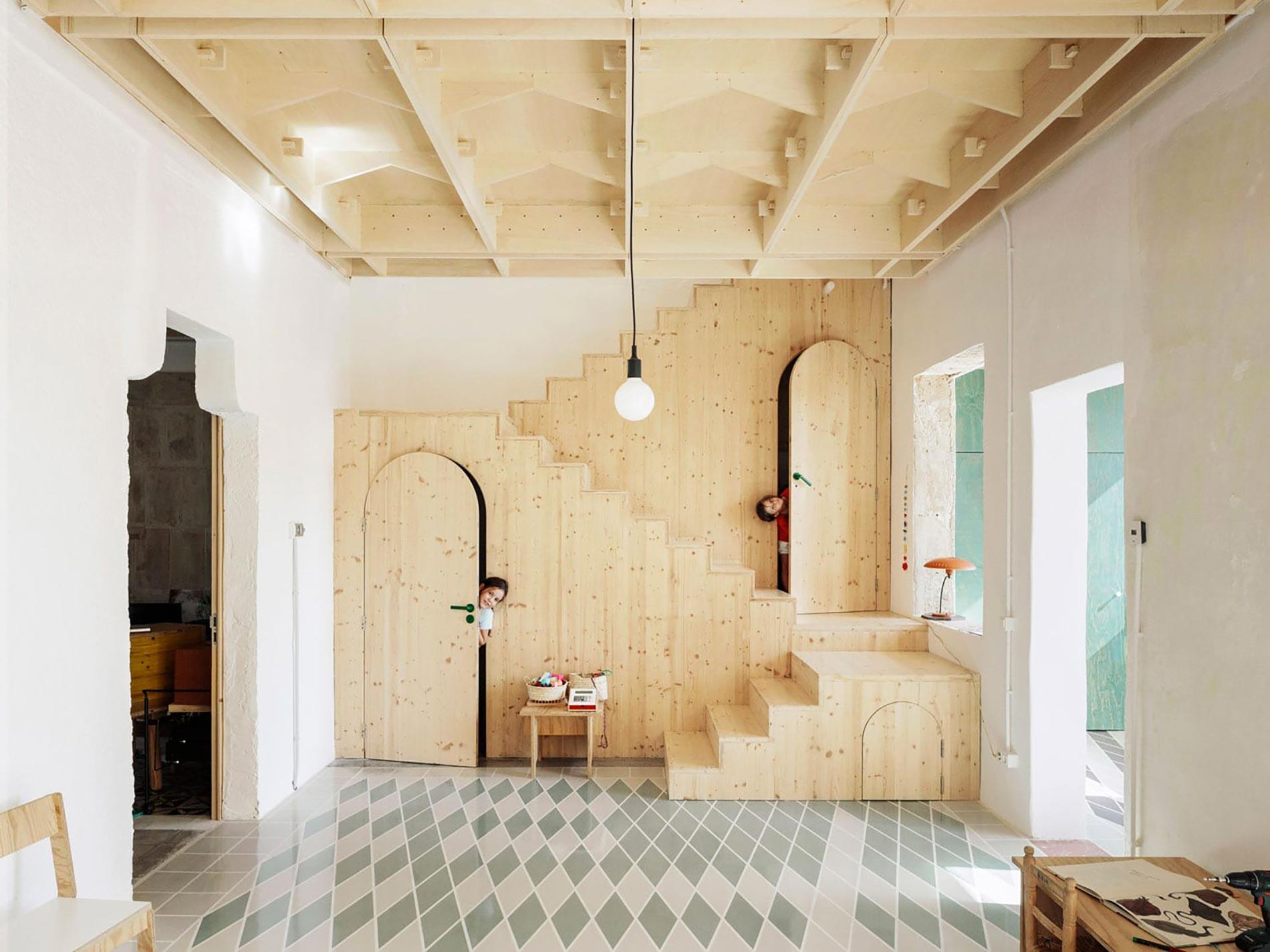 Plywood casa di legno parete legno