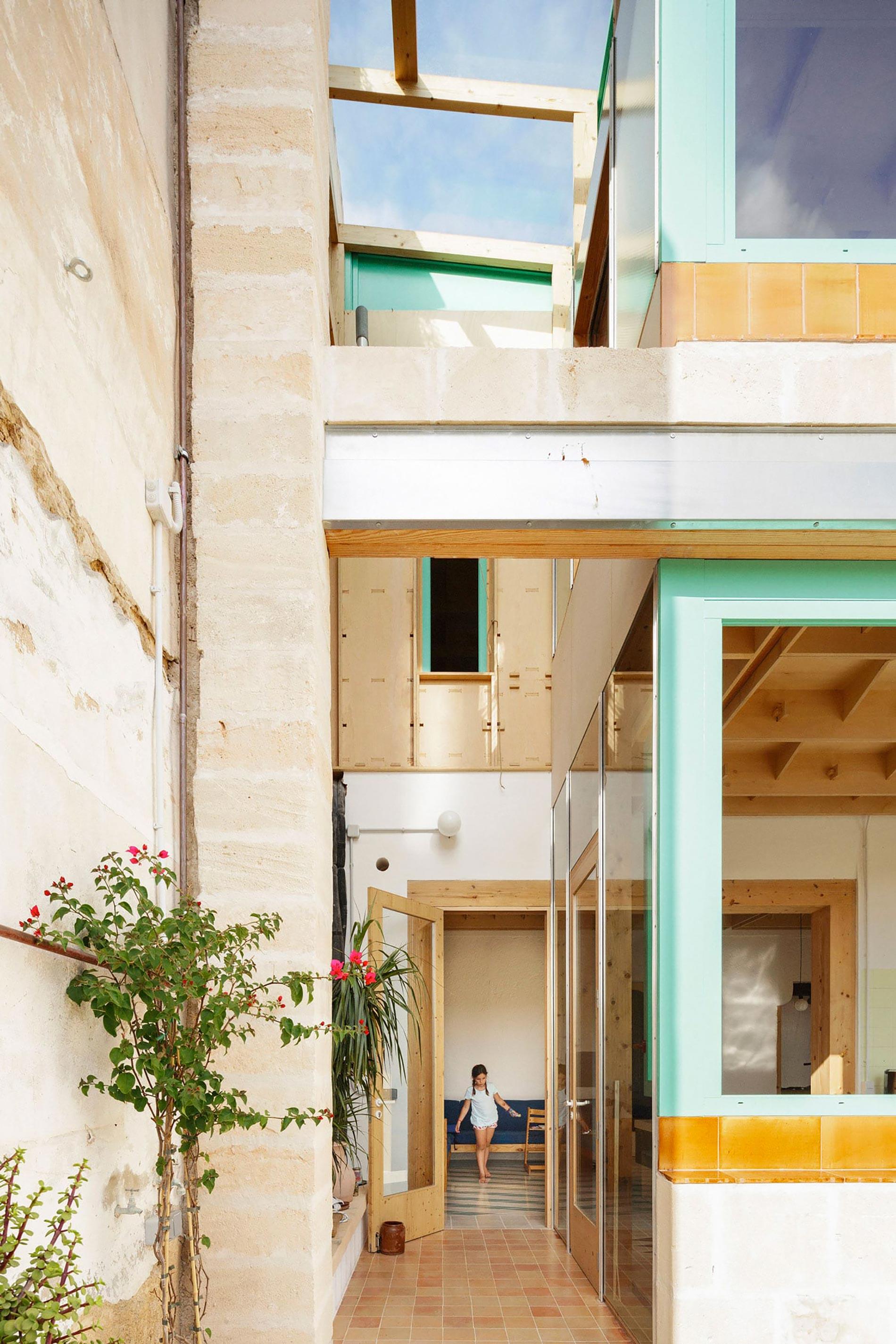 Plywood casa di legno patio