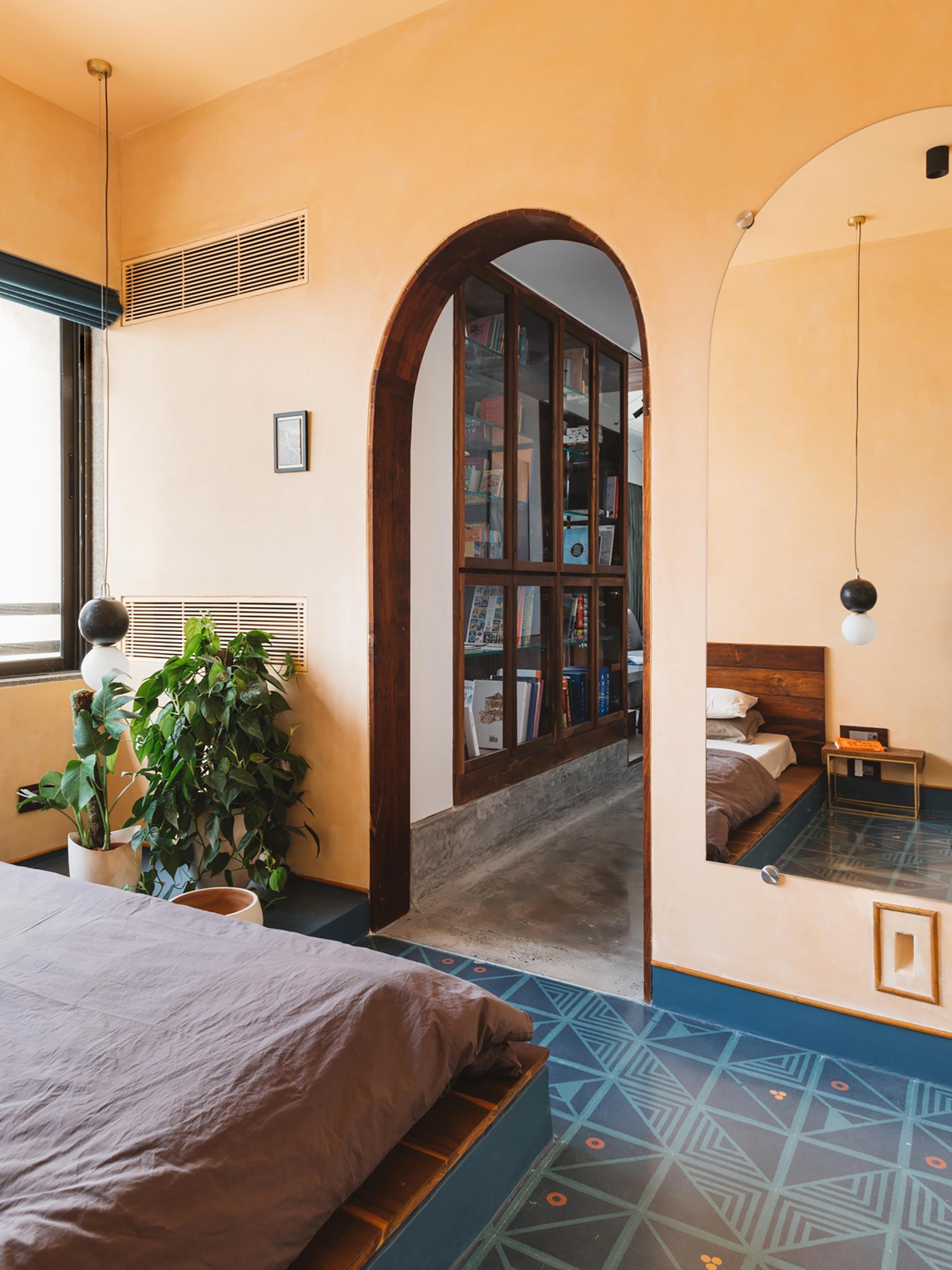 appartamento in india ingresso camera da letto