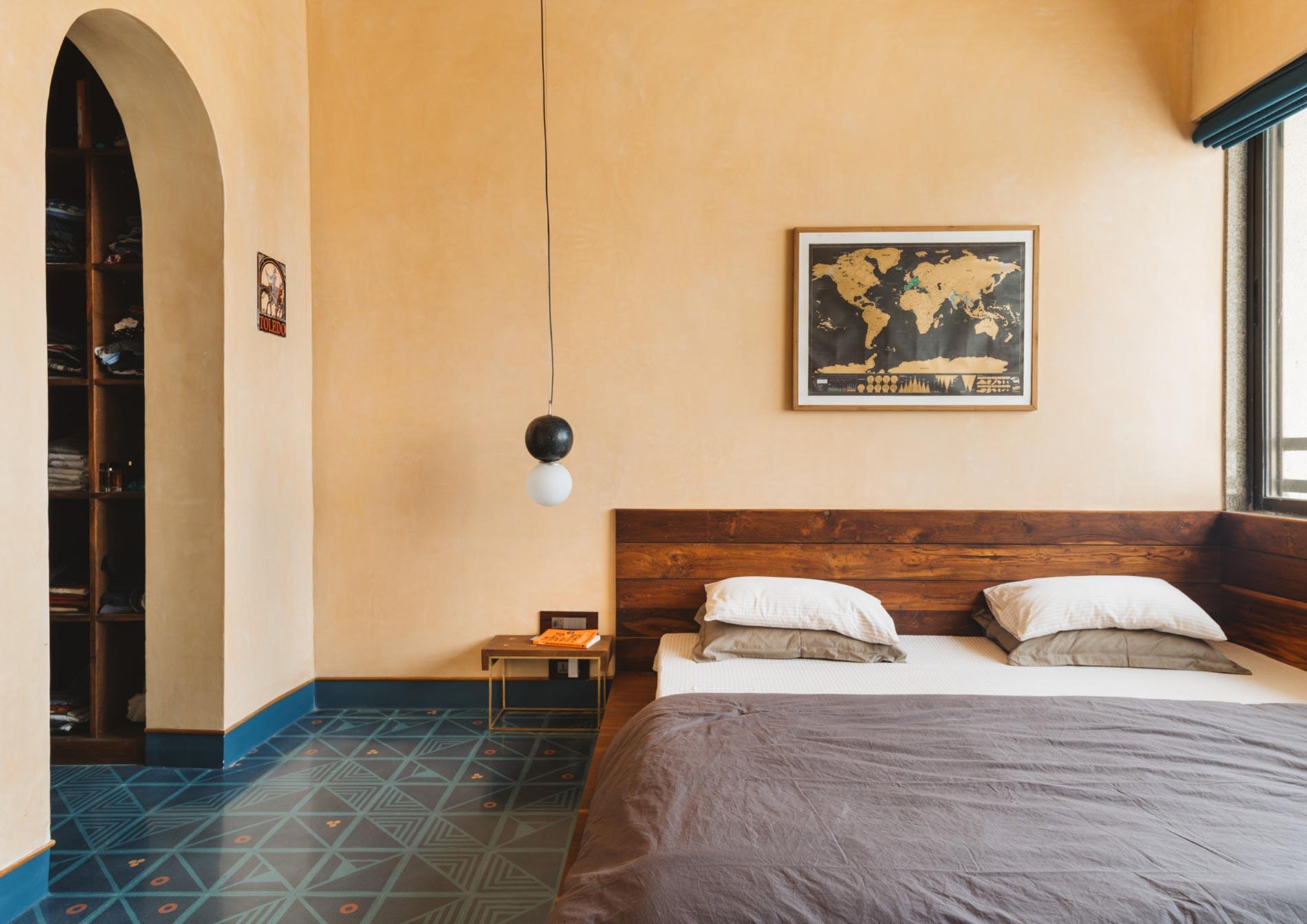 appartamento in india letto