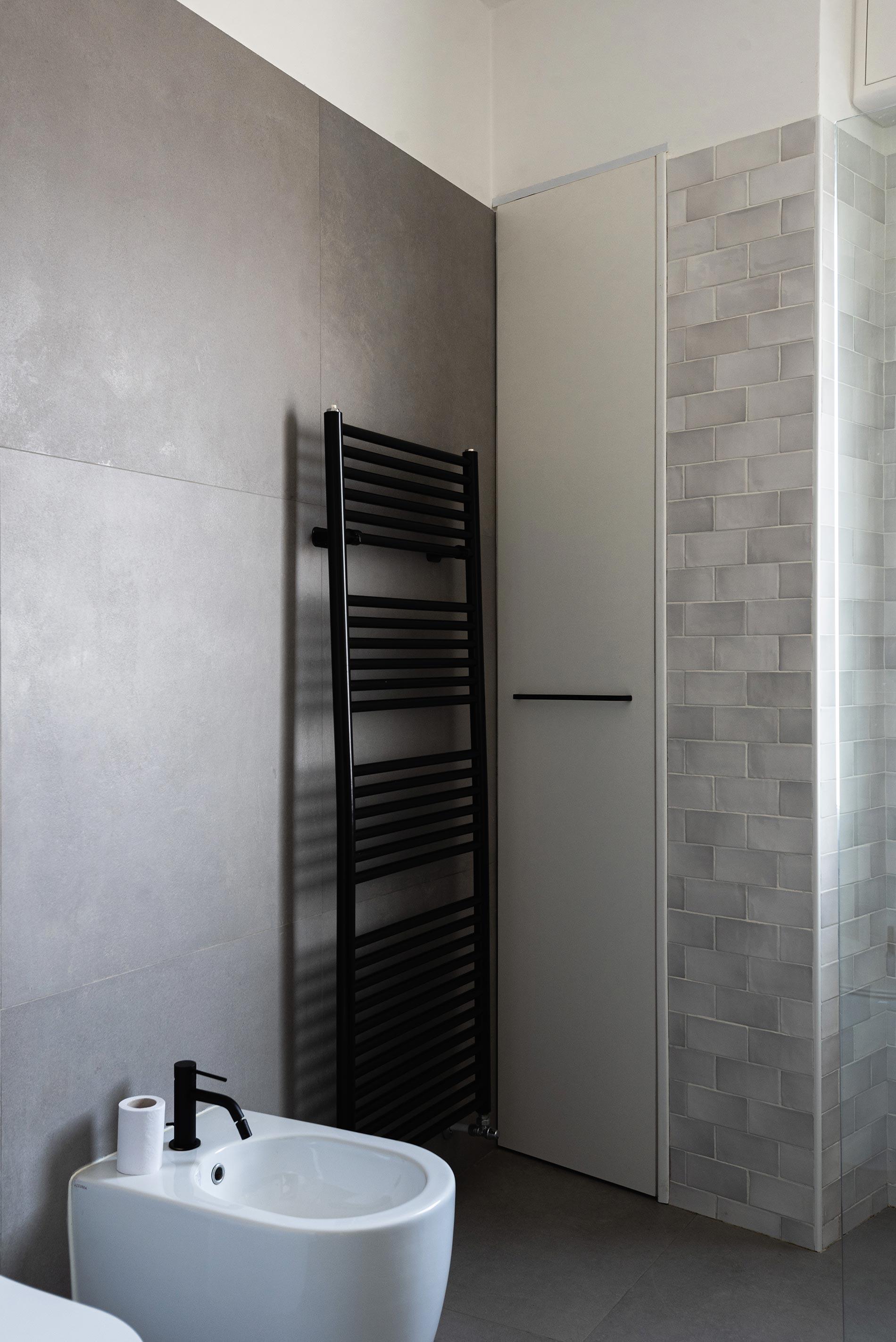 bagno cemento e nero