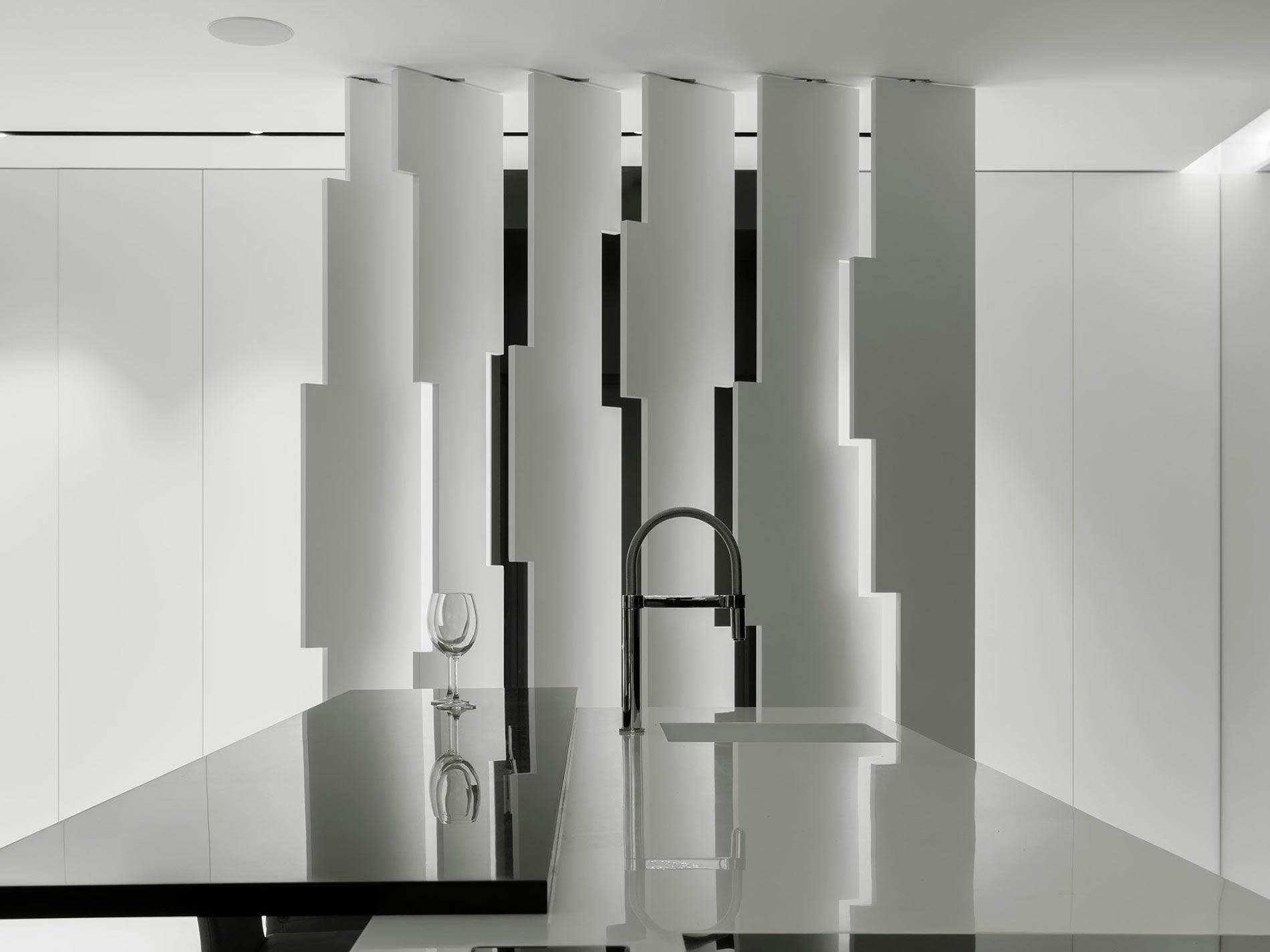 cucina isola moderna minimale