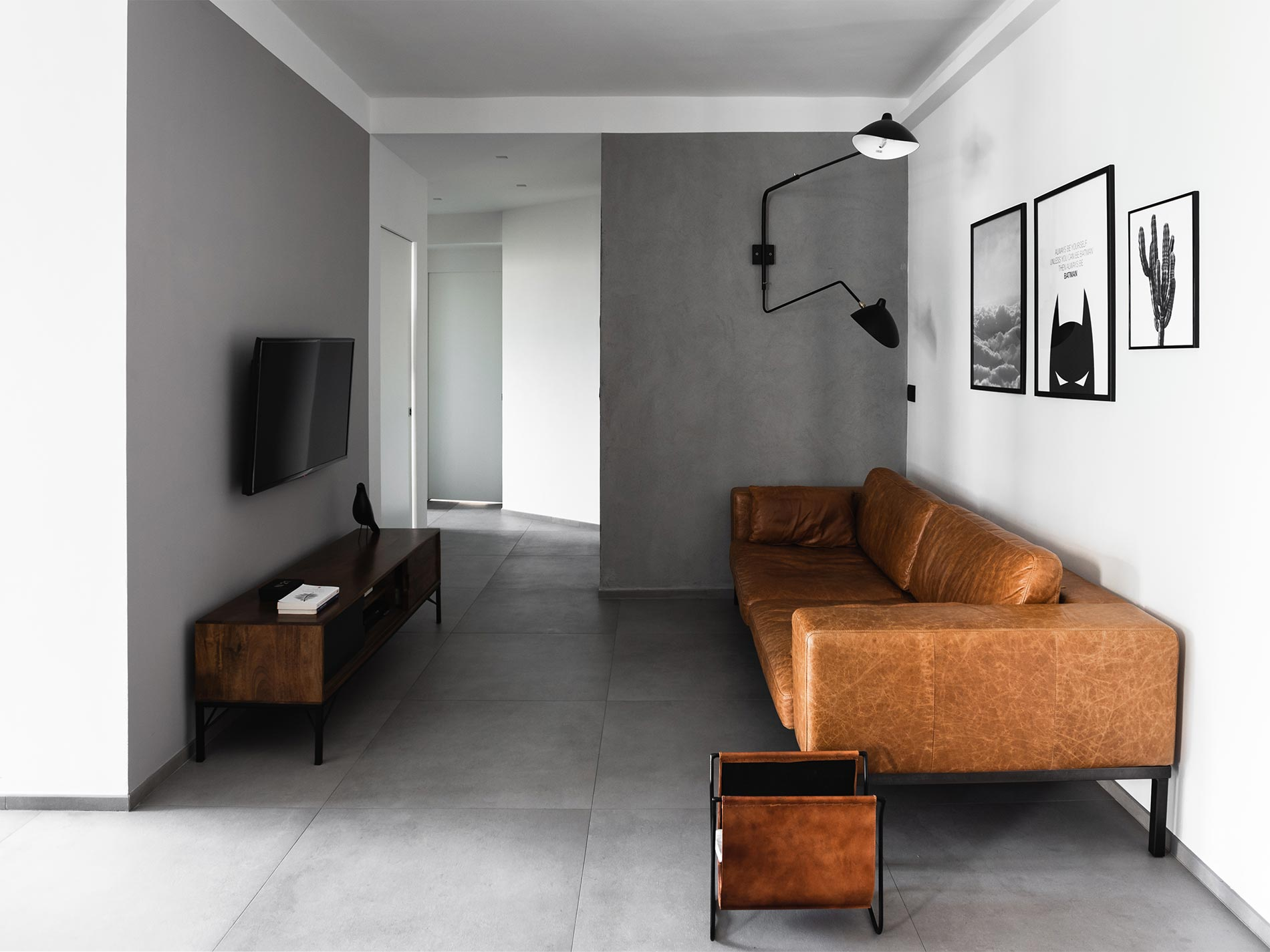 casa cemento e nero progettazione d'interni torino