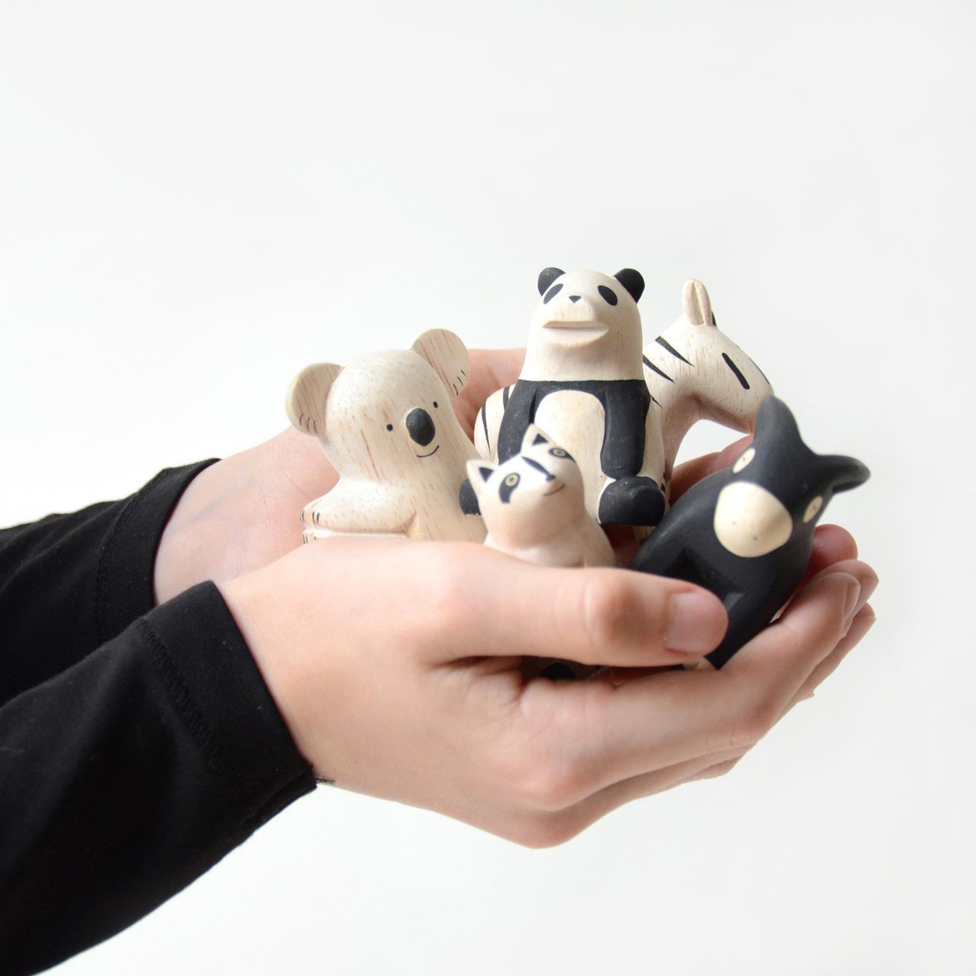 T lab animaletti in legno per bambini