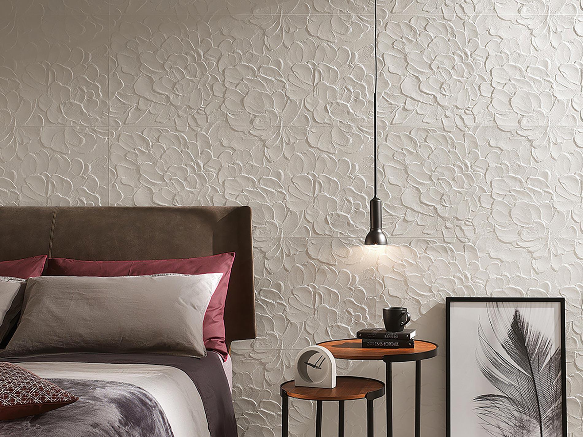 fap ceramiche rivestire la parete dietro il letto con le piastrelle