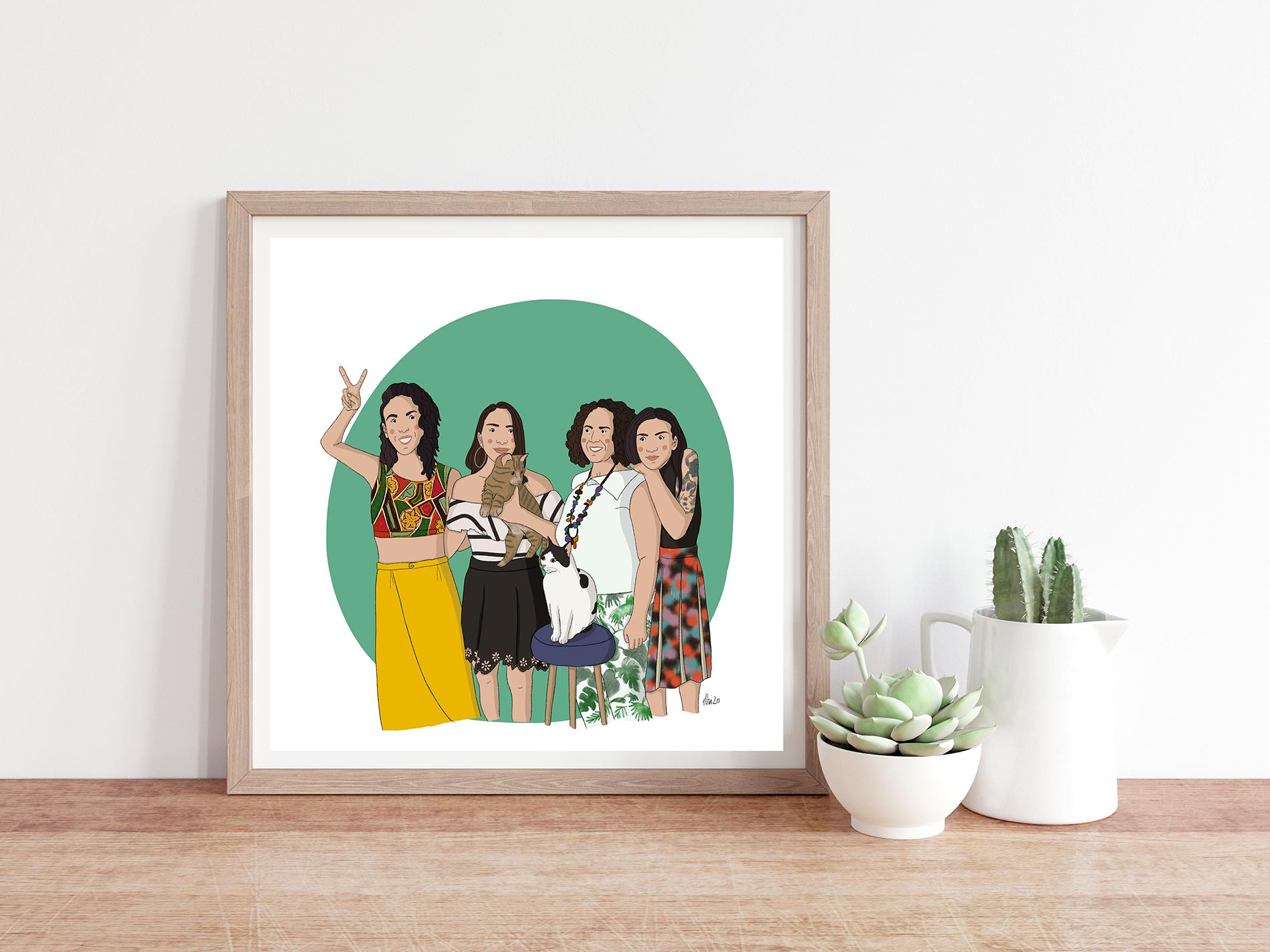 illustrazione personalizzata regalo festa della mamma