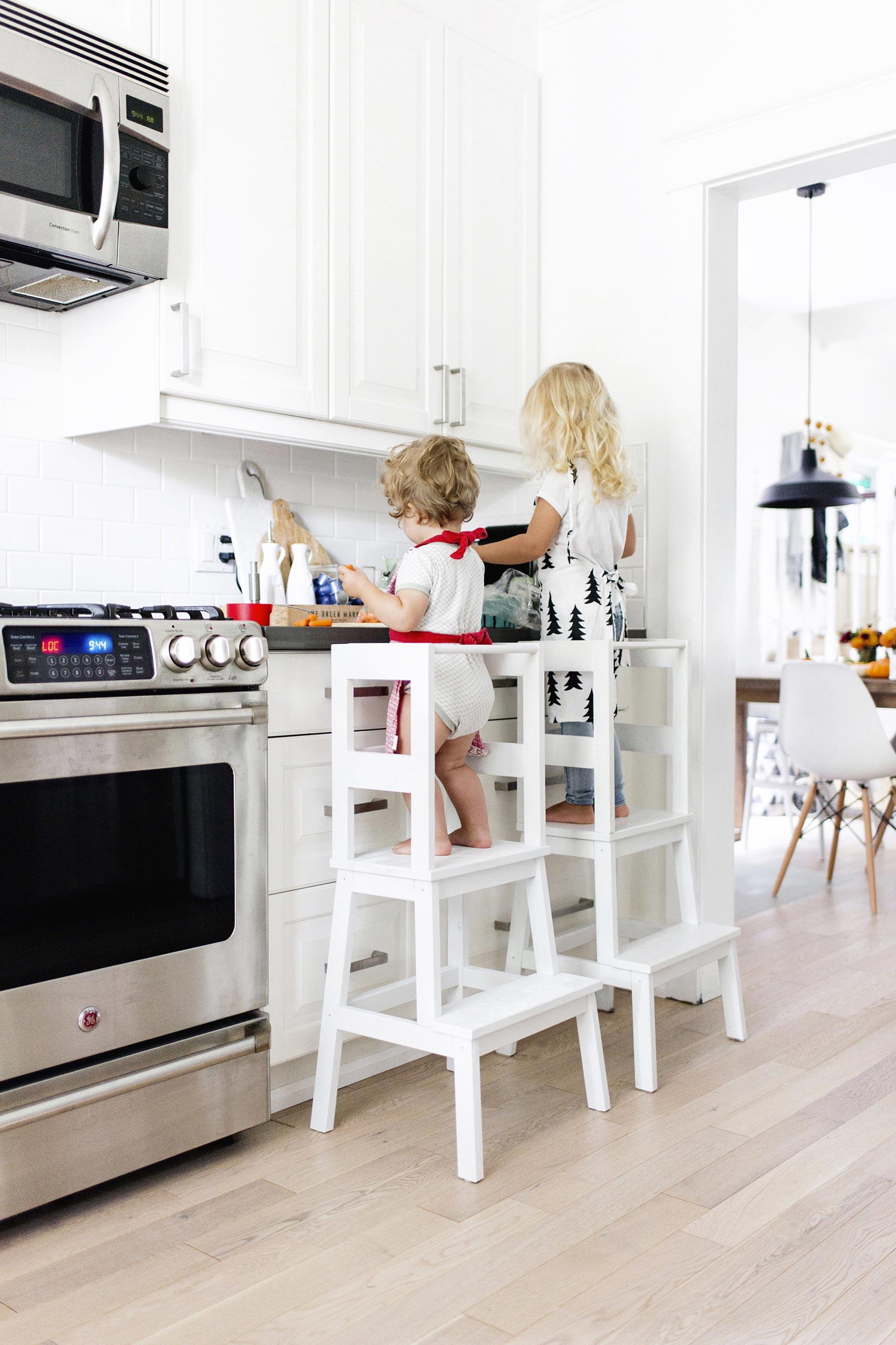 torre montessori in cucina